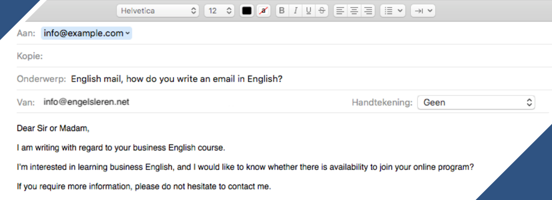 Engels mail, zo schrijf je een e-mail in het Engels.